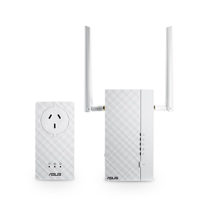 ASUS Homeplug AV2 PL-AC56 Kit 1200Mbps Dual Kit with AC Pass-through