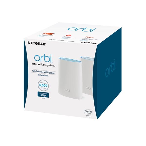Mesh - Netgear Orbi RBK50 Whole Home AC3000 Tri-Band Wi-Fi System