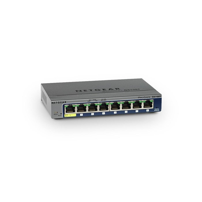 Netgear  ProSafe GS108T V2 8 Ports Gigabit Smart Switch