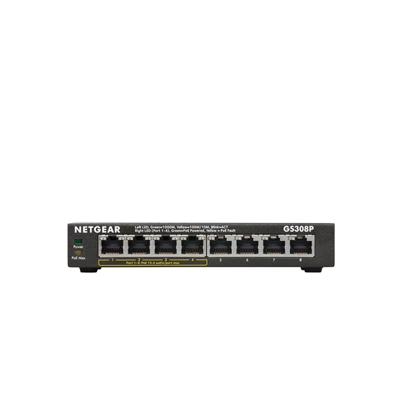 Netgear GS308P 8-Port Gigabit Switch with POE  2