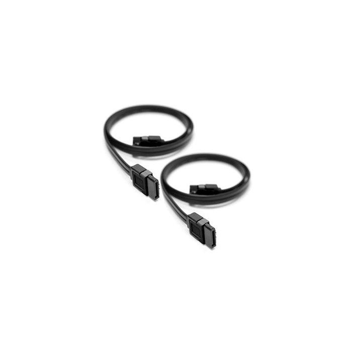 Generic  Straight SATA3 Cable 45cm Black (Pair)