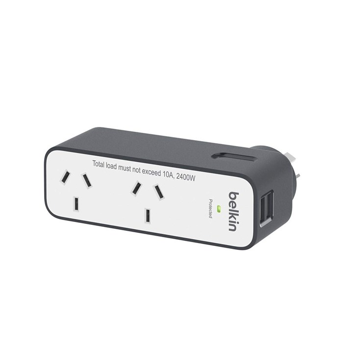 Belkin 2-Outlet Travel Surge Protector - 2 USB Ports