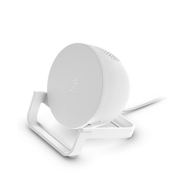 Belkin BOOSTCHARGE Wireless Charging Stand + Speaker - White