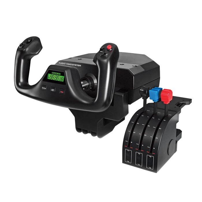 Logitech  Pro Flight Yoke System Professional Simulation Yoke and Throttle Quadrant
