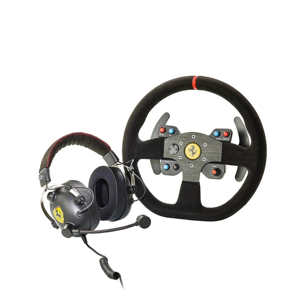 Thrustmaster Bundle - Ferrari 599xx Evo Wheel + T Racing Ferrari Alcantara Headset  1