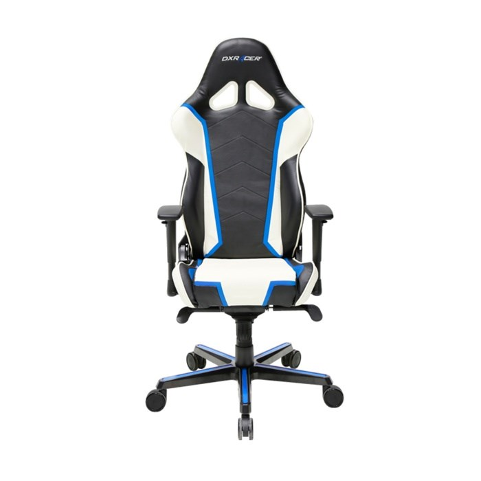 DXRacer Racing Series Gaming Chair - White/Black/Blue