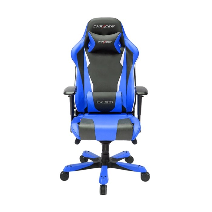 DXRacer King Series Gaming/Ergonomic PU Leather Chair - Black/Blue