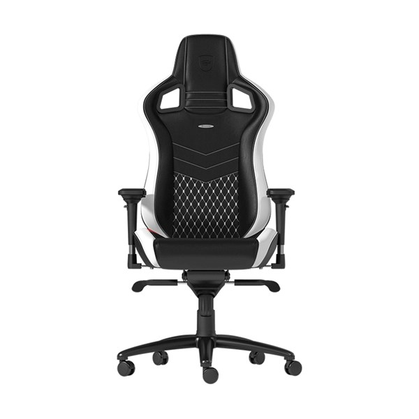 Noblechairs EPIC Series Real Leather Gaming Chair - Black/White/Red