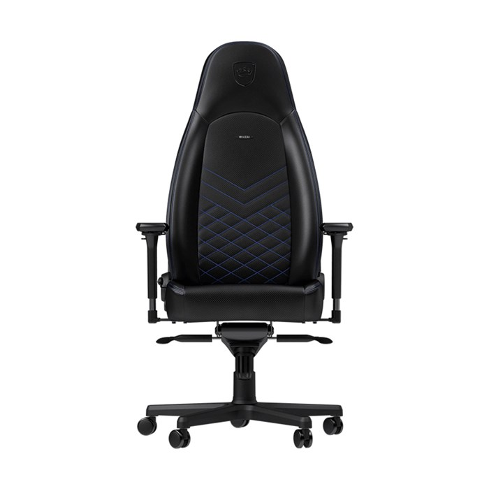 Noblechairs ICON Series Faux Leather Gaming Chair - Black/Blue