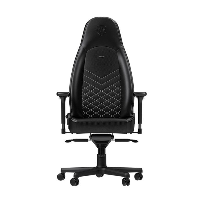 Noblechairs ICON Series Faux Leather Gaming Chair - Black/Platinum White