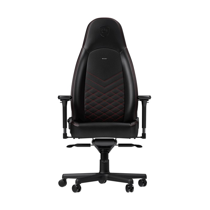 Noblechairs ICON Series Faux Leather Gaming Chair - Black/Red
