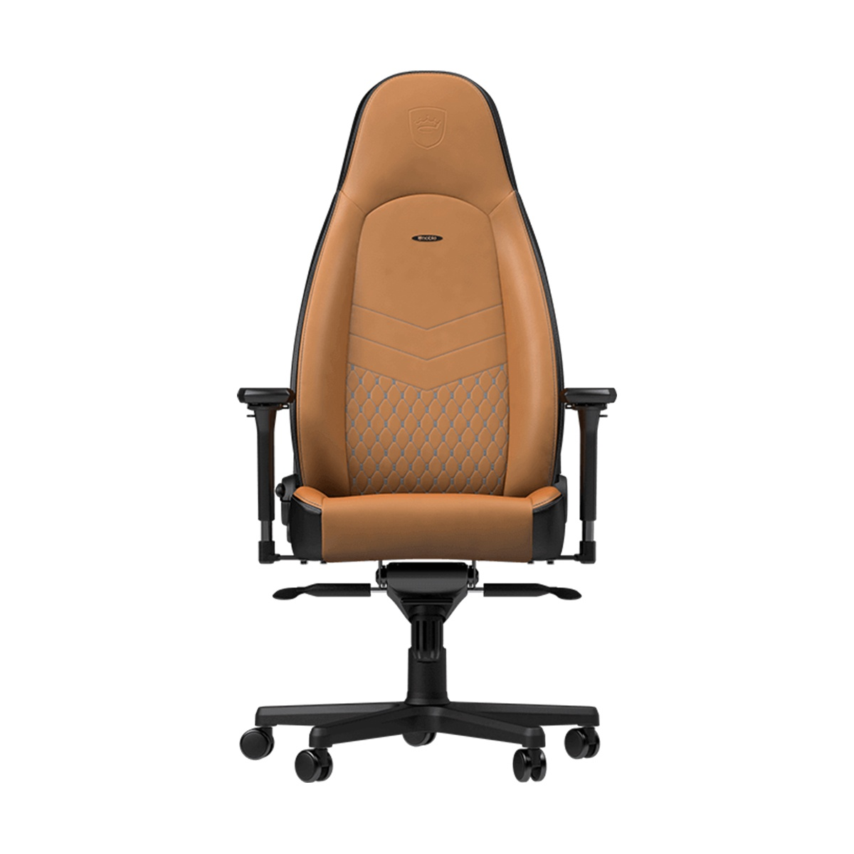 Picture of: Gaming Chairs Noblechairs Icon Series Real Leather Gaming Chair Cognac Black Computer Lounge
