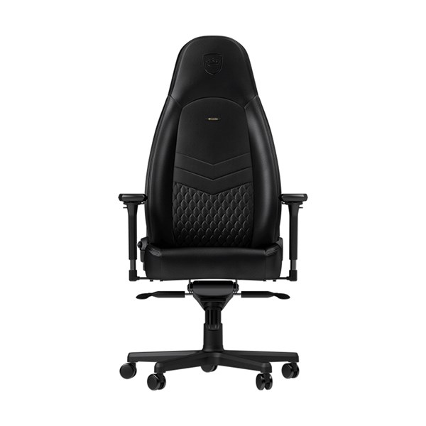 Noblechairs ICON Series Real Leather Gaming Chair - Black/Black