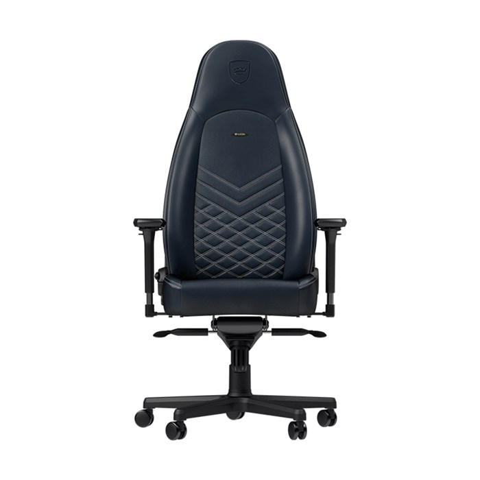 Noblechairs ICON Series Real Leather Gaming Chair - Midnight Blue/Graphite