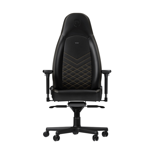 Noblechairs ICON Series Faux Leather Gaming Chair - Black/Gold  1