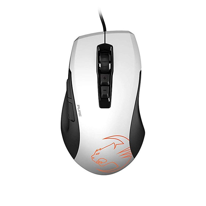 Roccat KONE PURE OWL-EYE Optical RGB Gaming Mouse - White