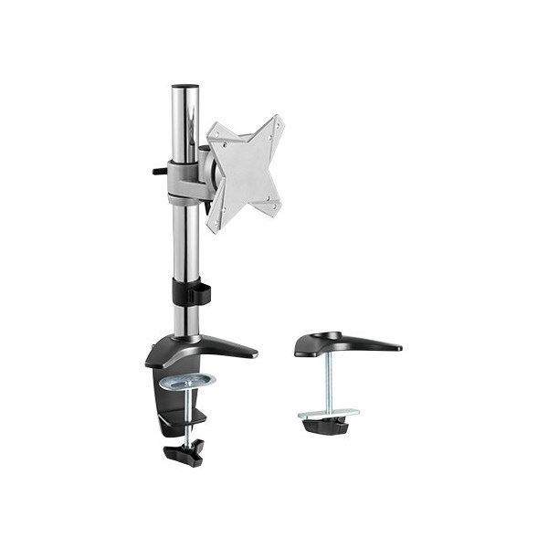 Brateck Elegant Single LCD Monitor Table Stand w/Arm & Desk Clamp VESA