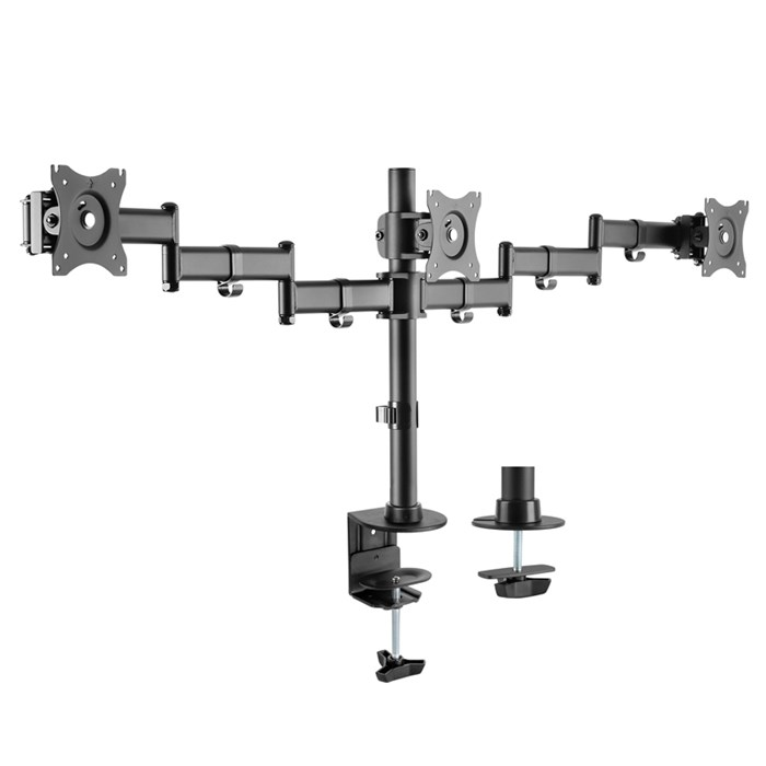 Brateck LDT07-C036 13'-27' Triple Monitor Desk Mount