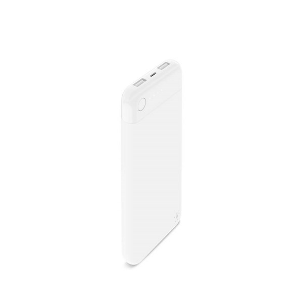 Belkin MFi Certified 10000 mAh Lightning Power Bank - White