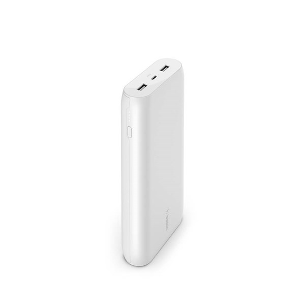 Belkin Pocket Power 20000 mAh Power Bank, Max 15W output - White
